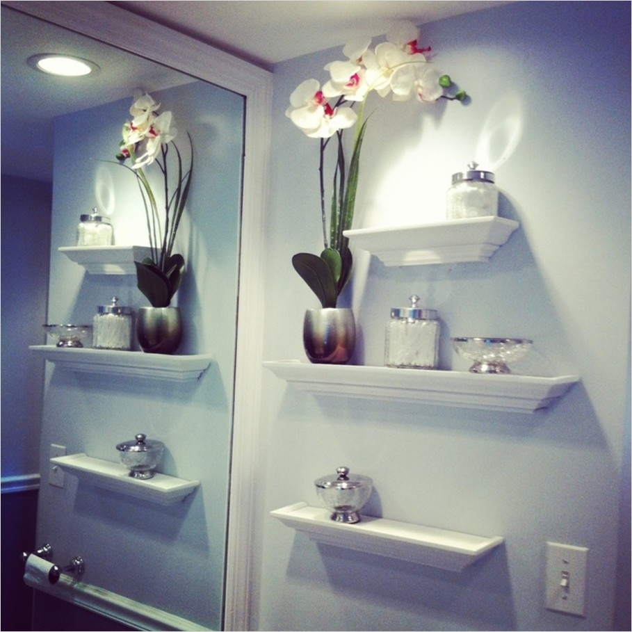 Bathroom Shelves Decorating Ideas 81 Bathroom Bathroom Wall Decor Easiest Way to Beautify Your Bathroom Luxury Busla Home 2