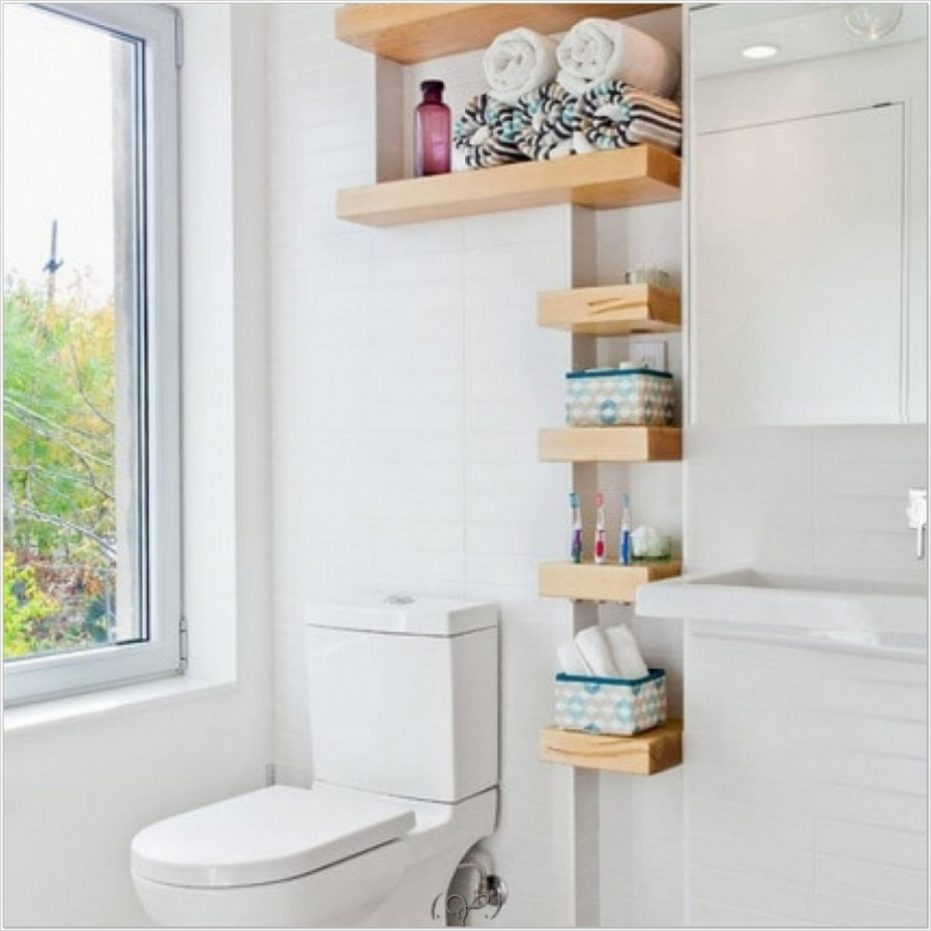 43 Creative Bathroom Shelves Decorating Ideas - Gongetech