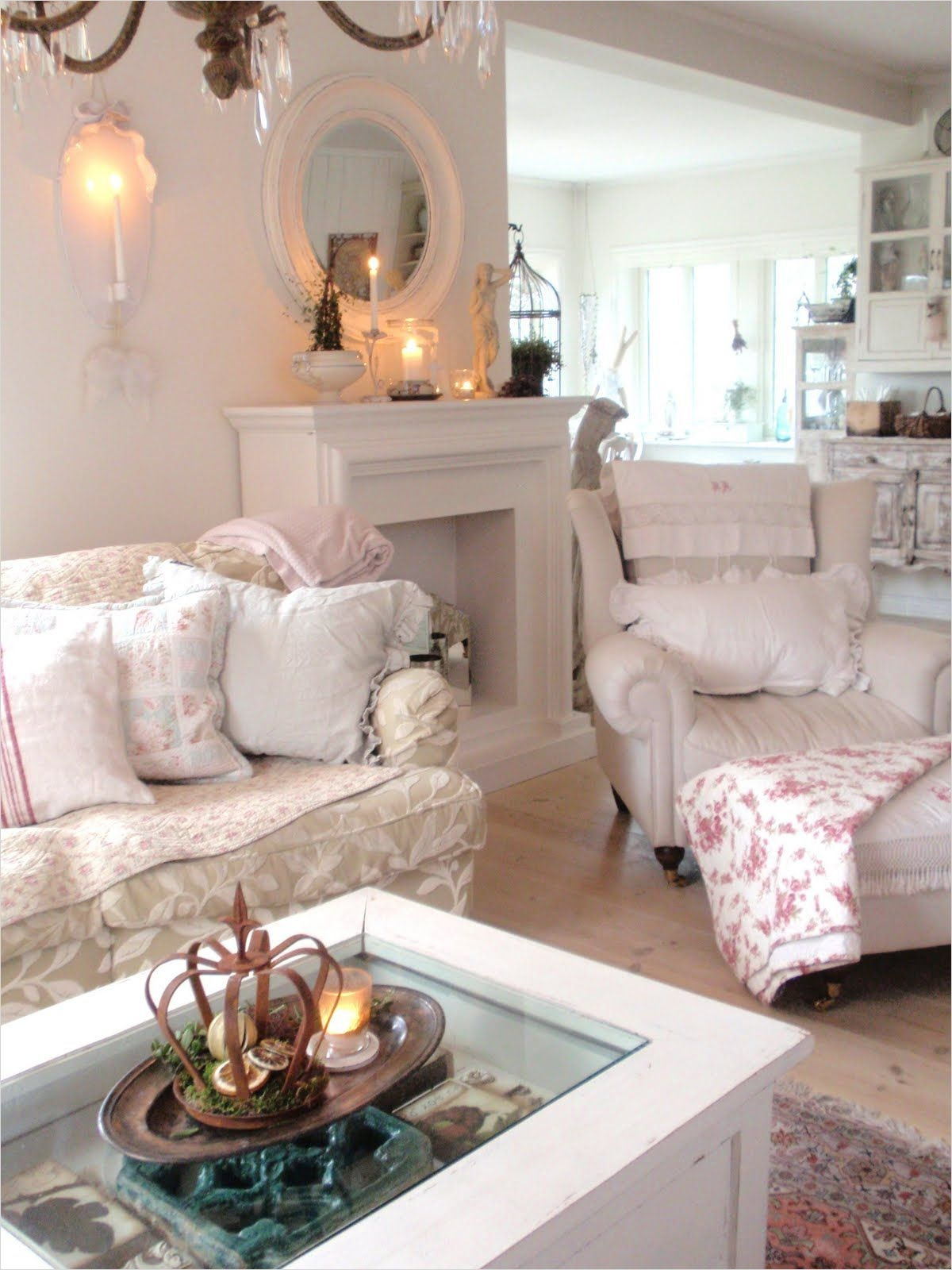 45 Amazing Ideas Country Chic Living Room 22 Living Room Whitewashed Chippy Shabby Chic French Country Rustic Swedish Decor Idea 4