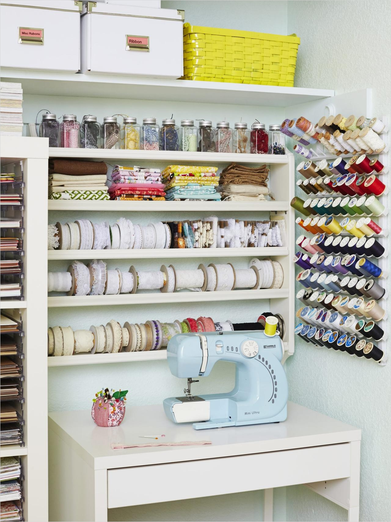 Craft Room Wall Decor 92 Craft and Sewing Room Storage and organization 2