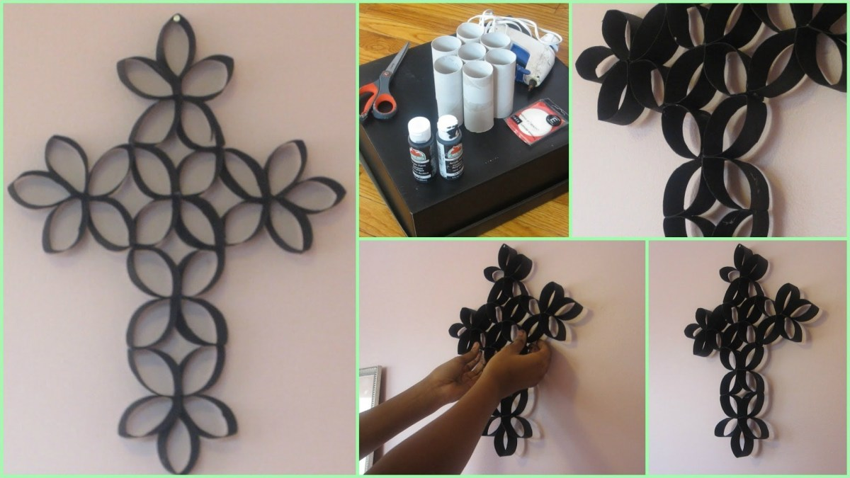 Craft Room Wall Decor 86 Diy Room Decoration Cross Wall Art Using toilet Paper Rolls 9