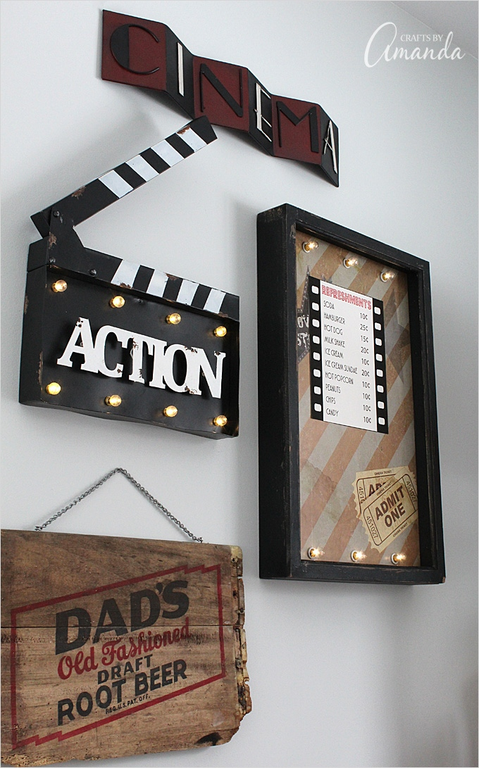 Craft Room Wall Decor 43 Movie theater Family Room Makeover 8