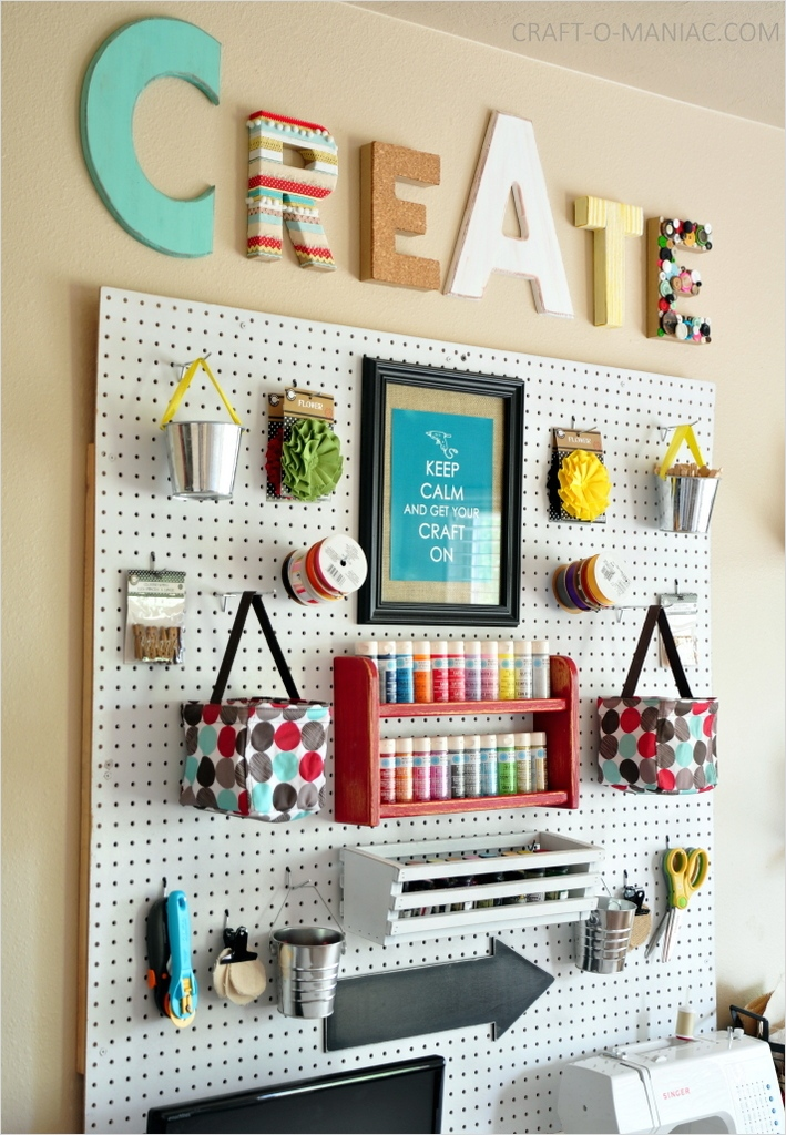 Craft Room Wall Decor 46 Craft Room Wall with Whites and Brights 1