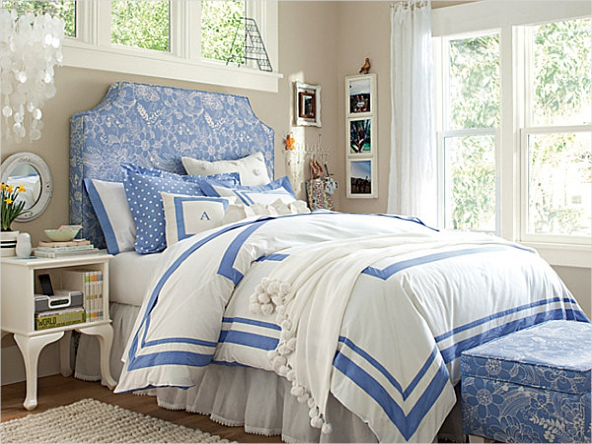 41 Amazing Dream Bedrooms for Teenage Girls 32 Lavender Teenage Bedrooms Dream Bedrooms for Teenage Girls Teen Girl Bedroom Ideas Blue White 7