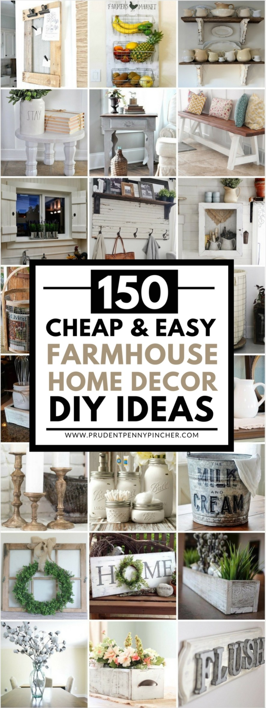 Farmhouse Chic Decorating Ideas 51 150 Cheap and Easy Diy Farmhouse Style Home Decor Ideas 2