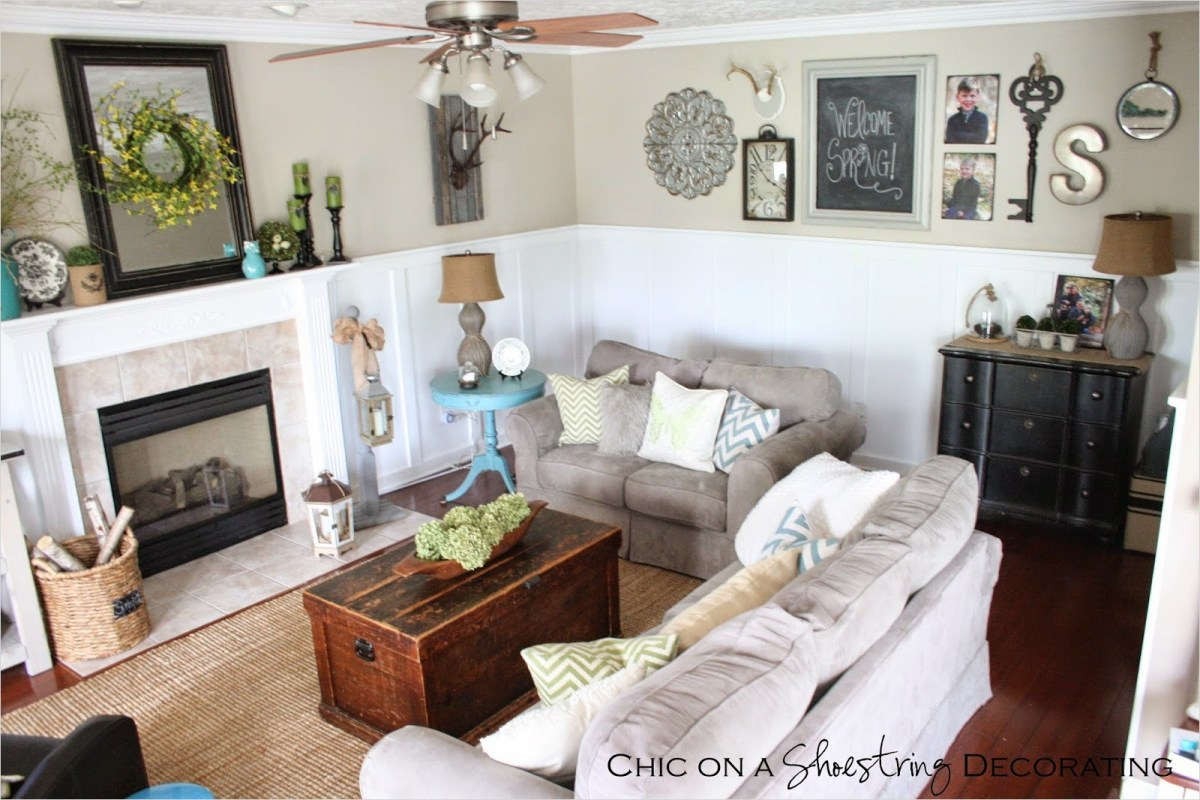 Farmhouse Chic Decorating Ideas 82 Chic On A Shoestring Decorating My Farmhouse Chic Living Room Reveal 1