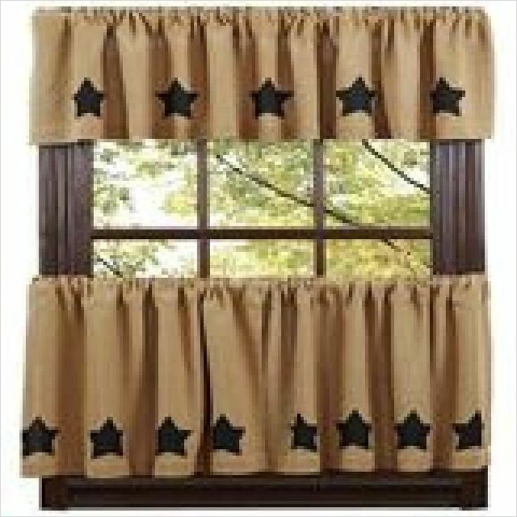 41 Perfect Farmhouse Country Kitchen Curtain Valances 91 Primitive Decor Burlap Black Star Valance Farmhouse Country 4