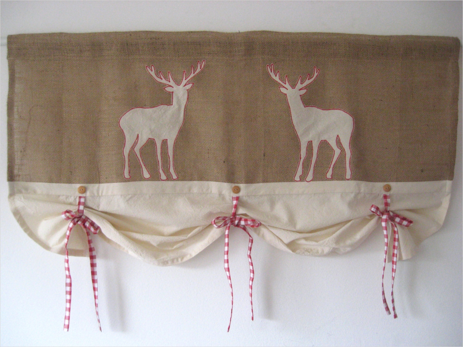 41 Perfect Farmhouse Country Kitchen Curtain Valances 62 Rustic Burlap Farmhouse Curtains Red Gingham Tie Up Valance 1
