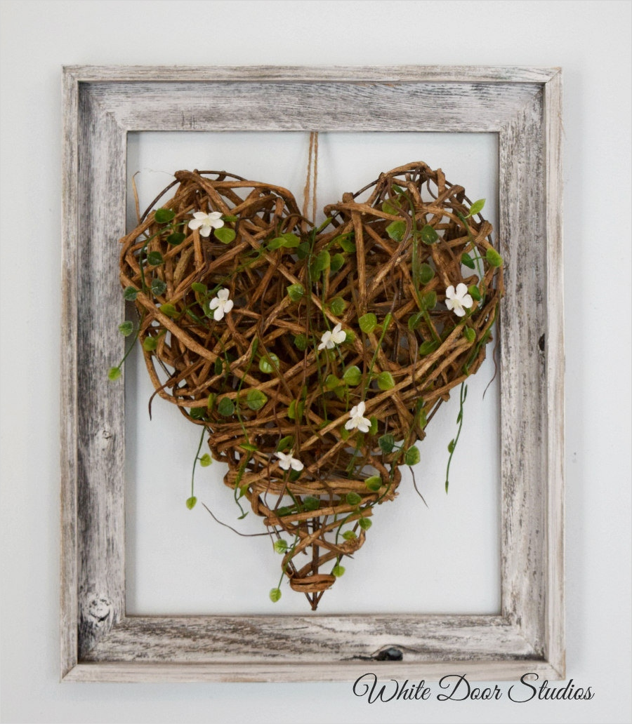 44 Gorgeous Farmhouse Wall Decor 86 Wood Heart Wall Decor Rustic Wall Decor Farmhouse Decor 5