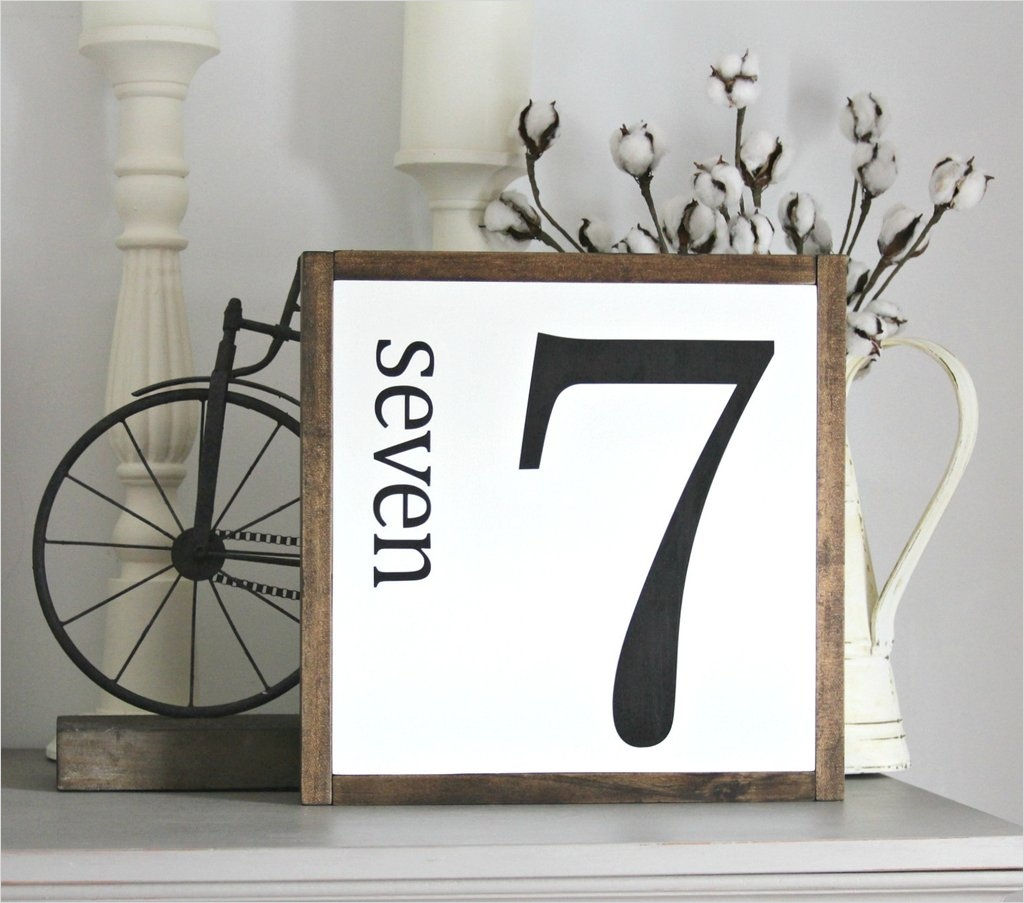 44 Gorgeous Farmhouse Wall Decor 83 Farmhouse Wall Decor Number 7 Framed Wooden Sign – Jarful House 2