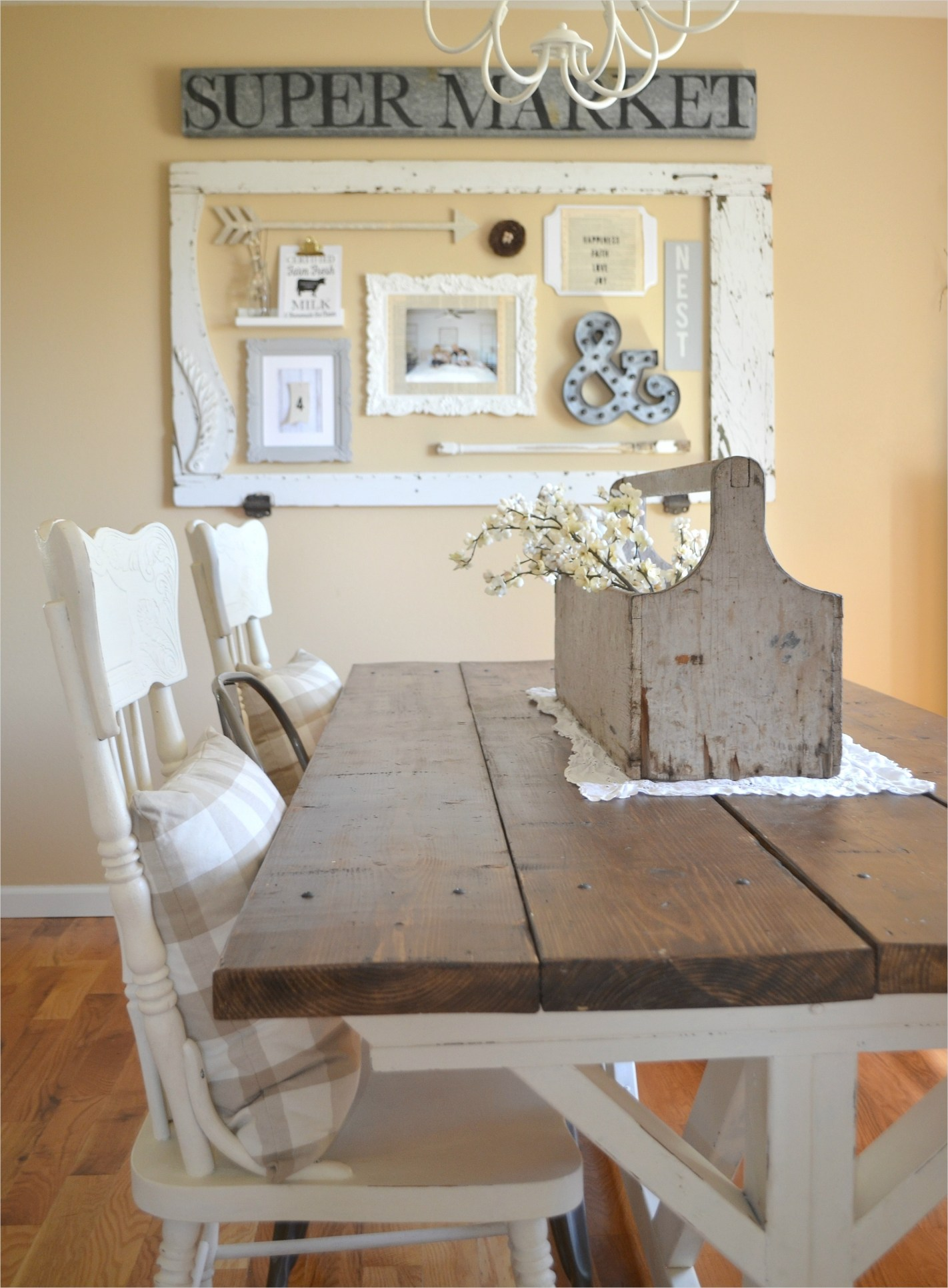 44 Gorgeous Farmhouse Wall Decor 74 Dining Room Gallery Wall Little Vintage Nest 4