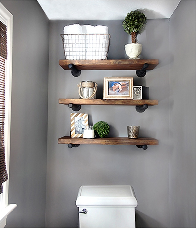 44 Creative Ideas Rustic Bathroom Walls Shelf 92 Diy Bathroom Shelves to Increase Your Storage Space 7
