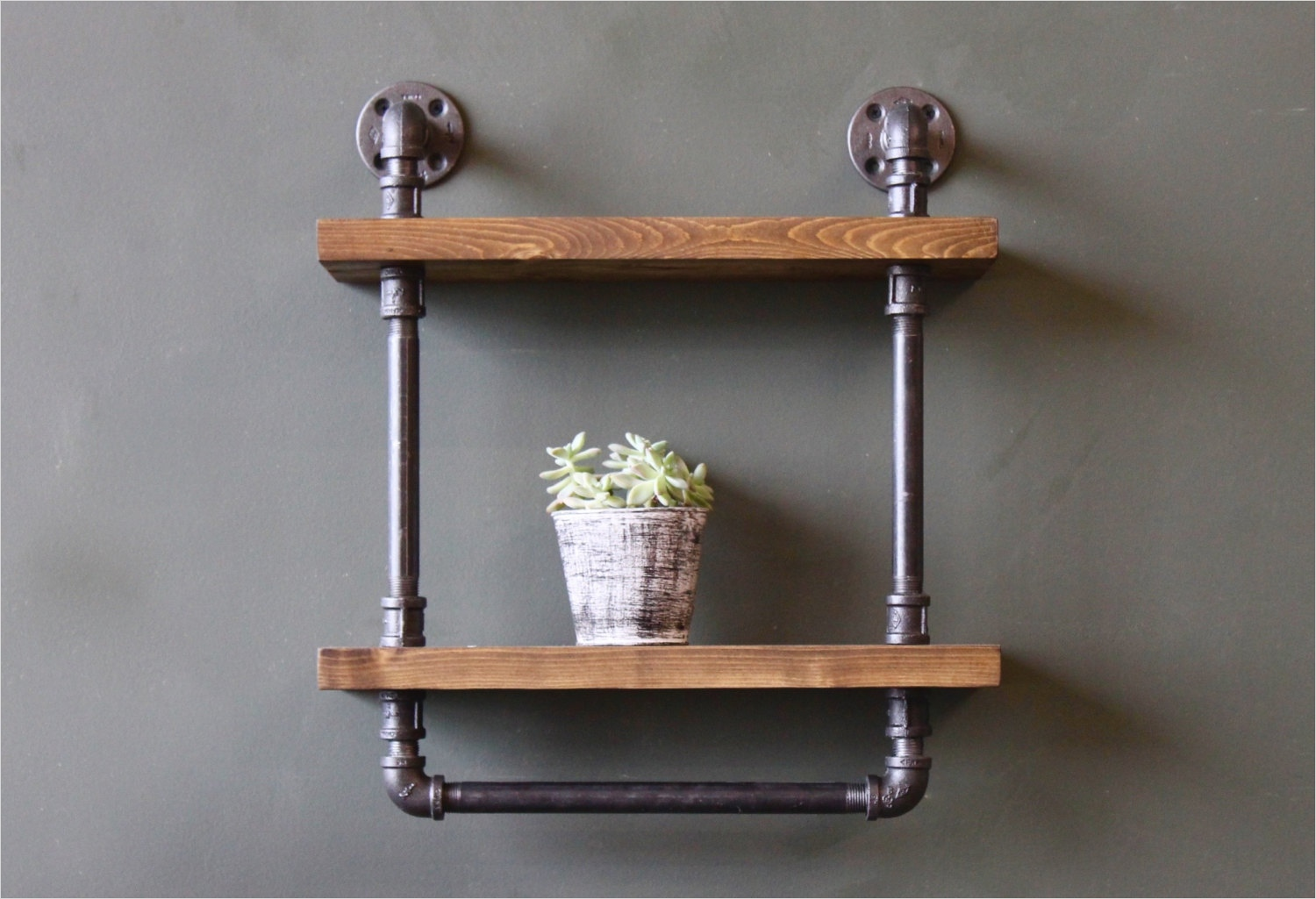 44 Creative Ideas Rustic Bathroom Walls Shelf 73 Rustic Shelf with towel Bar Bathroom Shelves Bathroom Wall 3