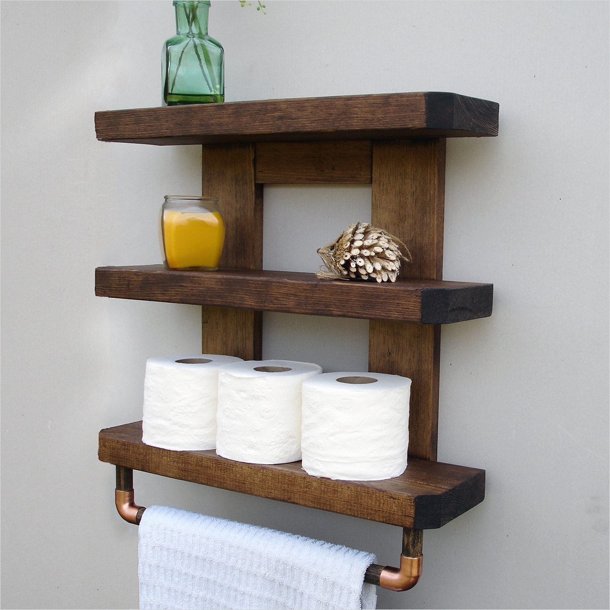 44 Creative Ideas Rustic Bathroom Walls Shelf 82 Rustic Bathroom Shelves 6