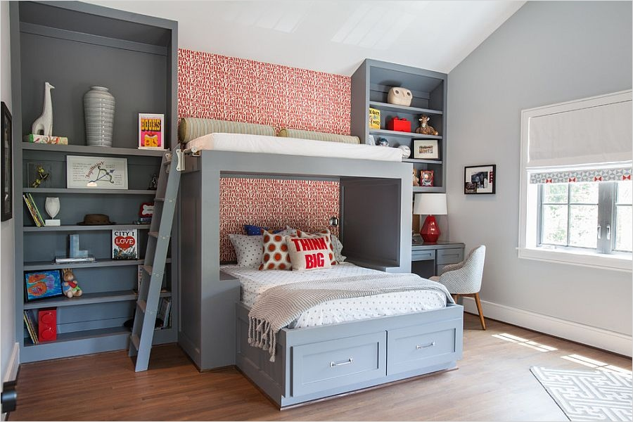 41 Perfect Shelf Decor Ideas Grey Bedrooms 24 25 Cool Kids' Bedrooms that Charm with Gorgeous Gray 9