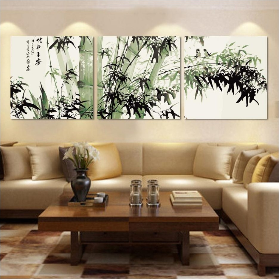 40 Creative Ideas Wall Decor for Living Room 62 Living Room Stunning Wall Art Decor Ideas Living Room with Green Bamboo Canvas Wall Art Also 9