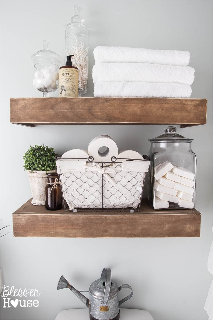 41 Beautiful Farmhouse Bathroom Accessories Ideas 23 Modern Farmhouse Bathroom Makeover Reveal 6