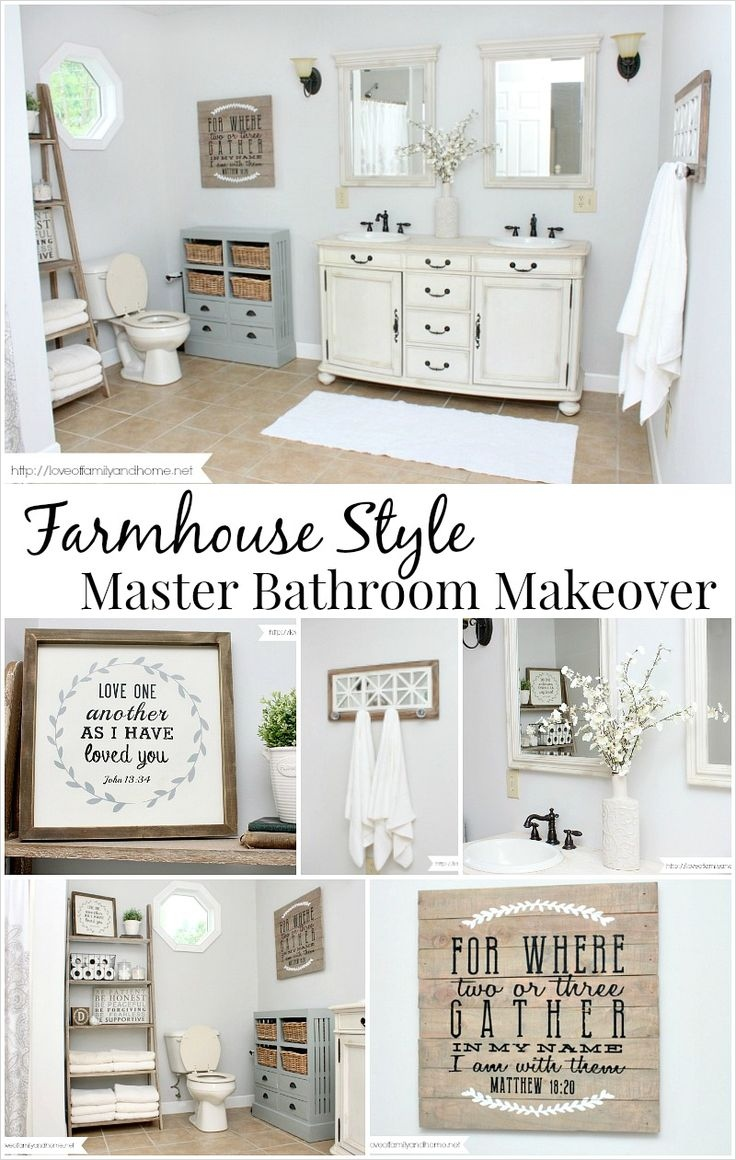 41 Beautiful Farmhouse Bathroom Accessories Ideas 53 Best 20 Farmhouse Style Bathrooms Ideas On Pinterest 3