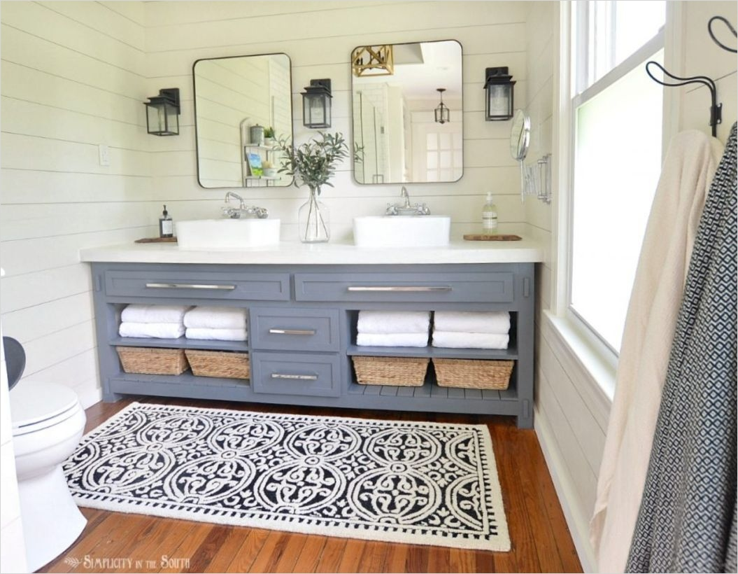 41 Beautiful Farmhouse Bathroom Accessories Ideas 98 Farmhouse Bathrooms Ideas 4