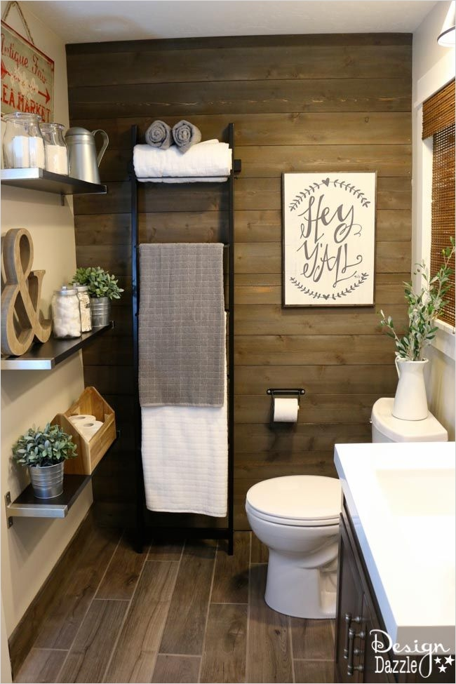 41 Beautiful Farmhouse Bathroom Accessories Ideas 42 Farmhouse Bathroom Ikea Style 8
