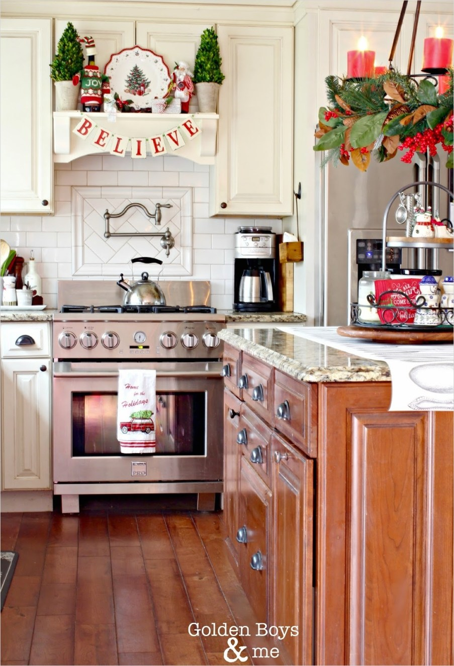 42 Awesome Kitchen Christmas Decorating Ideas 39 Golden Boys and Me Christmas In the Kitchen 7