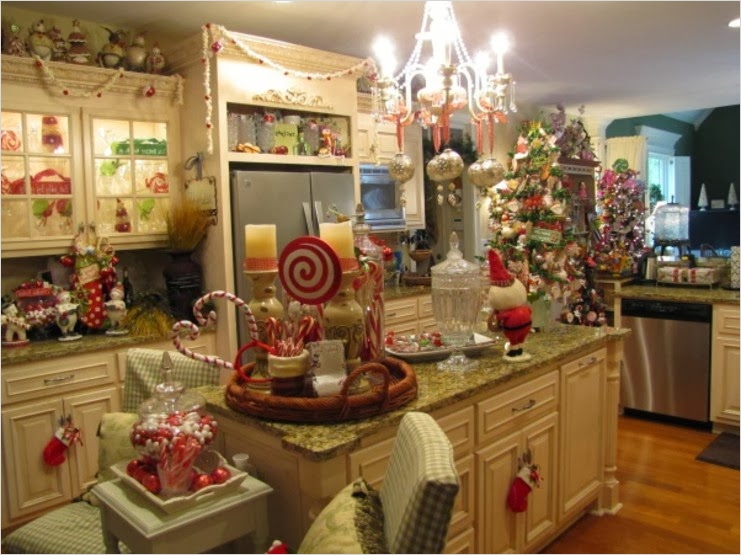 42 Awesome Kitchen Christmas Decorating Ideas 23 Shabby In Love Christmas Kitchen Decor Ideas 9