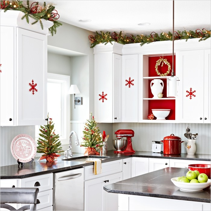 42 Awesome Kitchen Christmas Decorating Ideas 33 top 40 Holiday Decoration Ideas for Kitchen Christmas Celebration All About Christmas 3