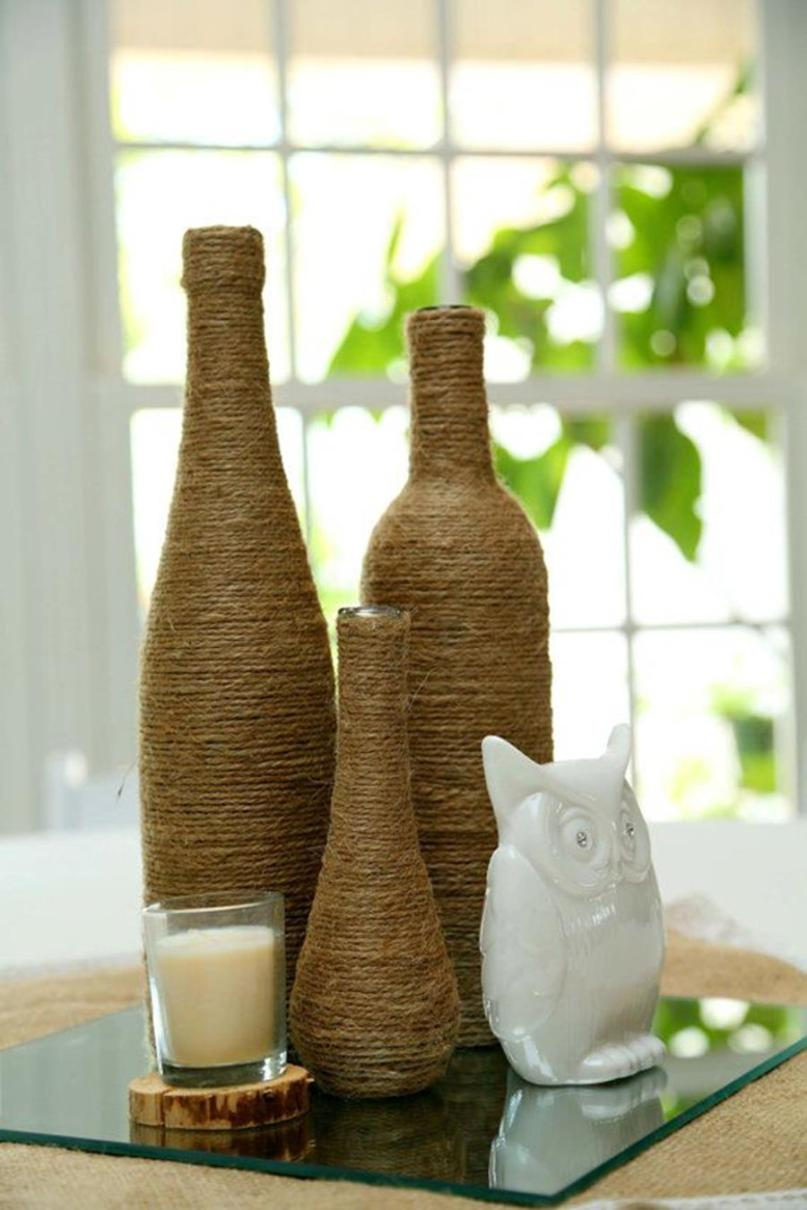 46 DIY Simple but Beautiful Wine Bottle Decor Ideas 16
