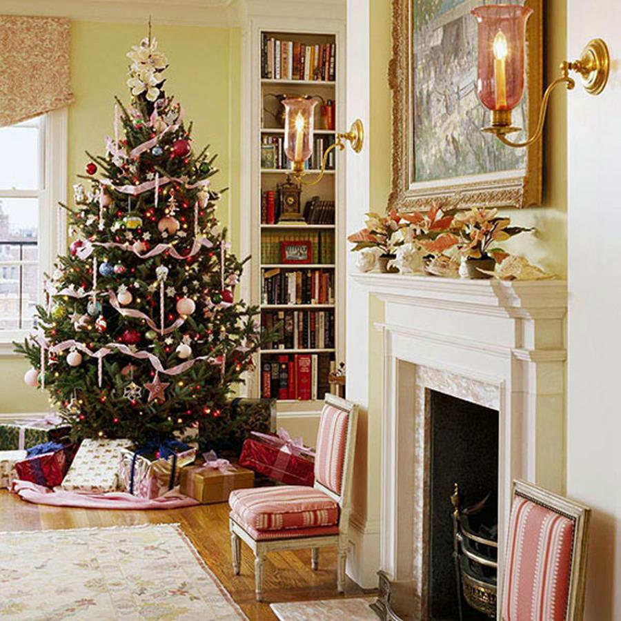 50 Stunning Living Room Christmas Decorating Ideas 19