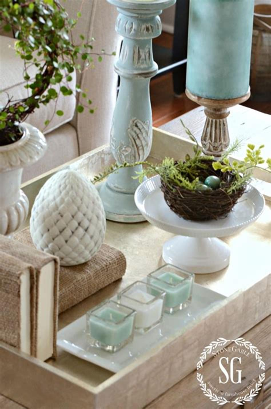 40 Beautiful Farmhouse Style Tray Decor Ideas 11