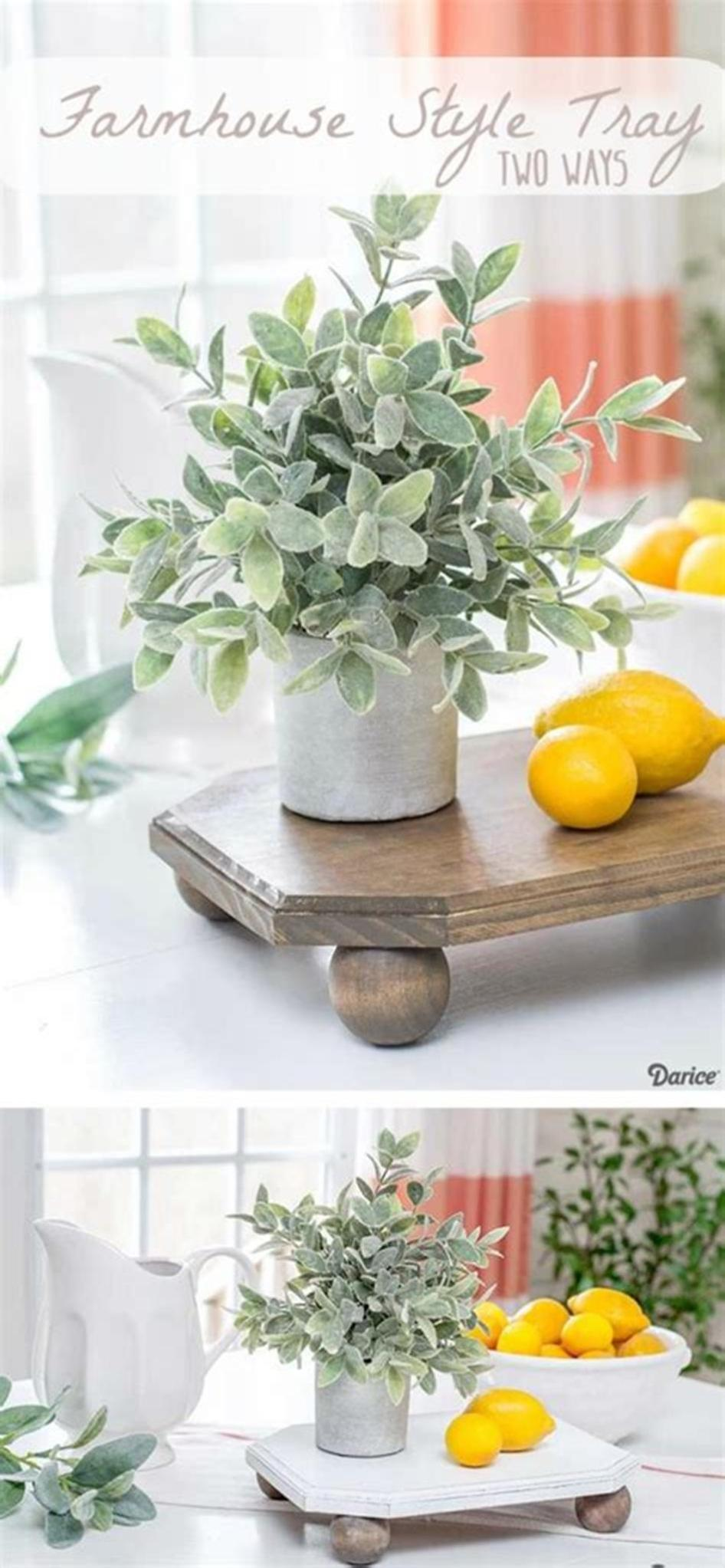 40 Beautiful Farmhouse Style Tray Decor Ideas 41