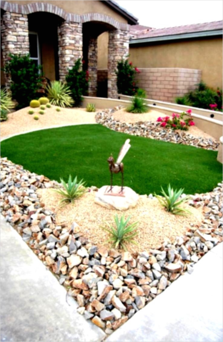 35 Perfect Front Yard Landscaping Ideas with Rocks 88