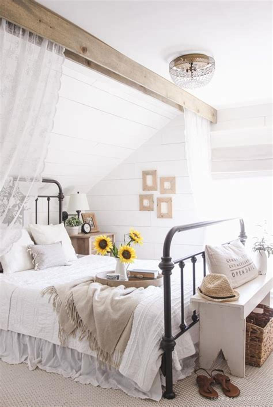 48 Stunning Farmhouse Master Bedroom Design Ideas 2019 2