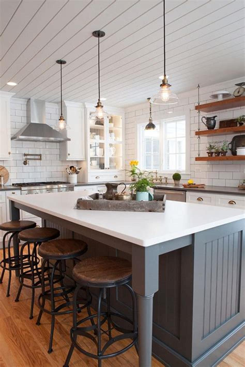 50 Inspiring Farmhouse Style Kitchen Lighting Fixtures Ideas 6