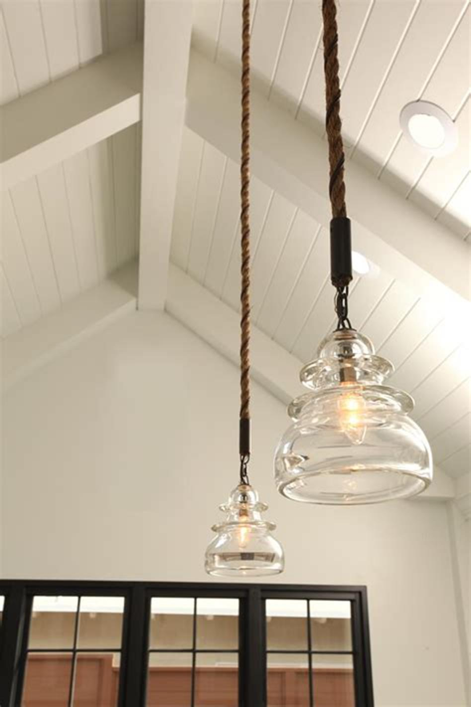 50 Inspiring Farmhouse Style Kitchen Lighting Fixtures Ideas 64