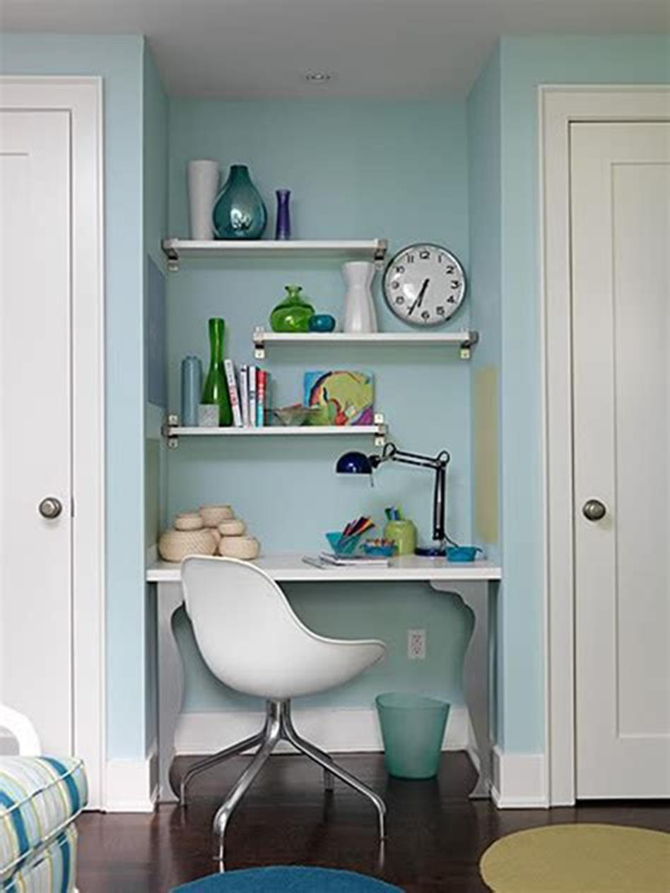 50 Best Small Space Office Decorating Ideas On a Budget 2019 12