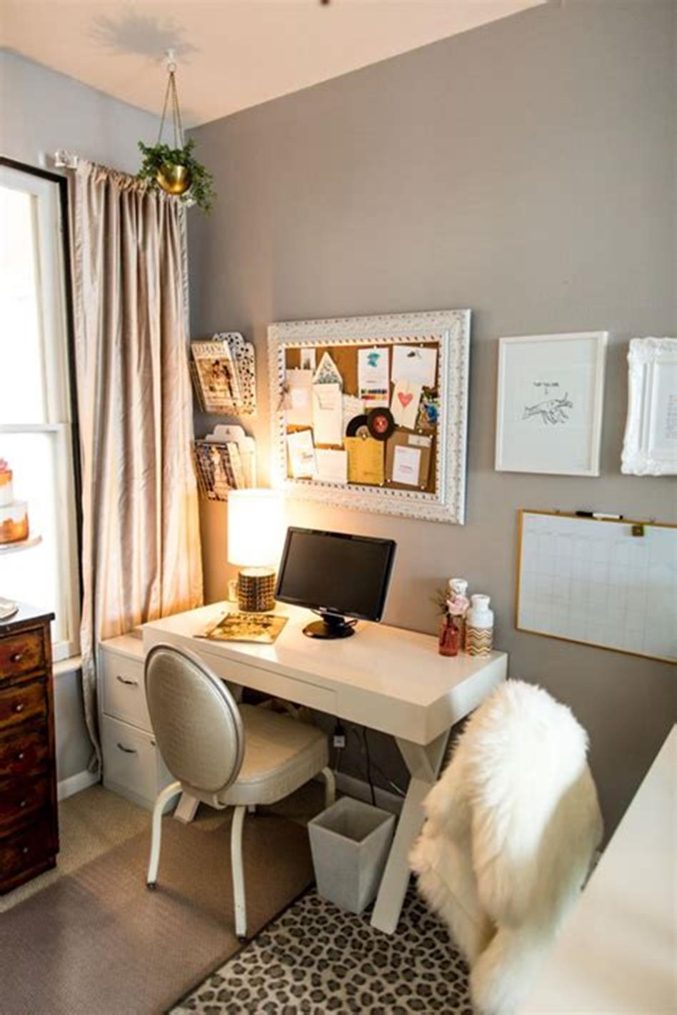 50 Best Small Space Office Decorating Ideas On a Budget 2019 24