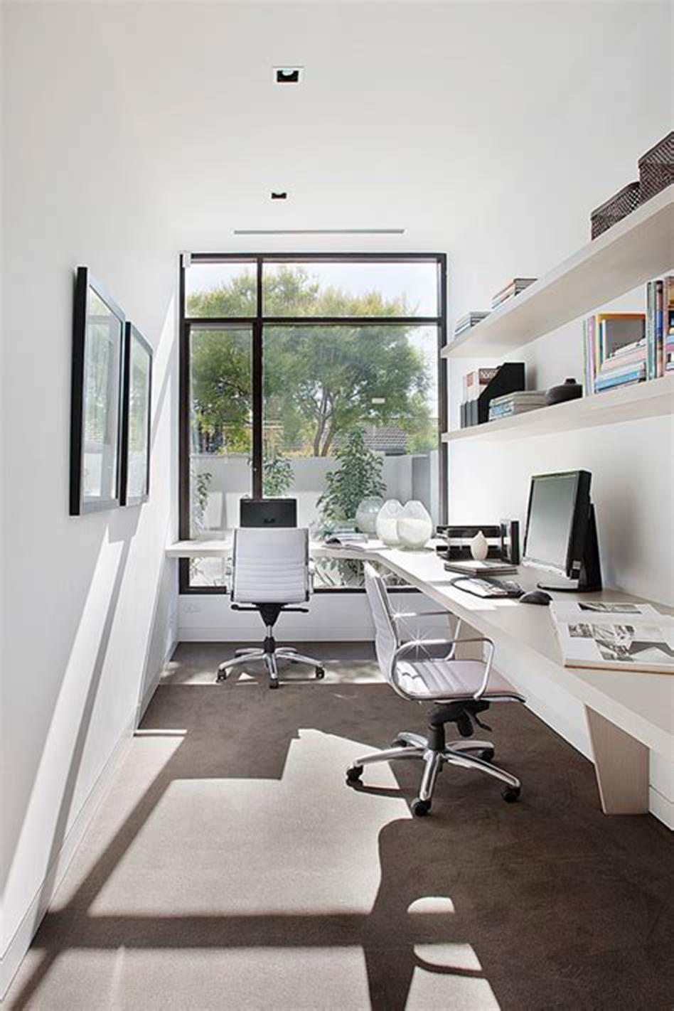 50 Best Small Space Office Decorating Ideas On a Budget 2019 3