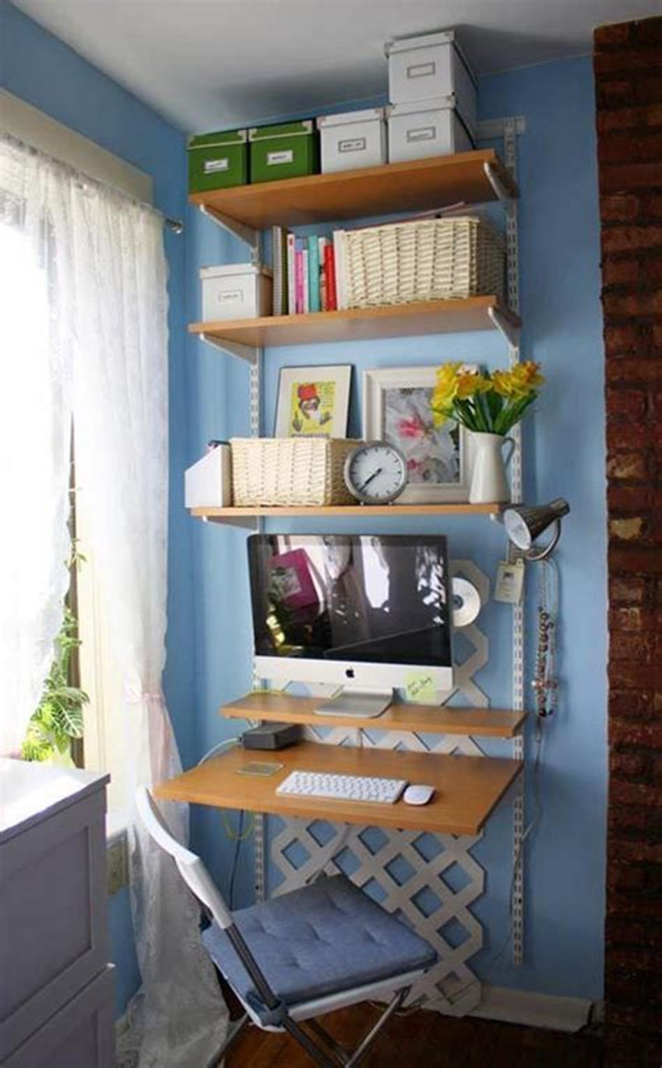 50 Best Small Space Office Decorating Ideas On a Budget 2019 53