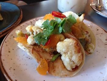 Cauliflower tacos at Johnny Sánchez