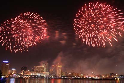 Countdown the New Year in New Orleans   GoNOLA com New Orleans Fireworks New Year s Eve