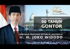 Resepsi Kesyukuran 90 Tahun Gontor bersama Presiden RI, Ir. H. Joko Widodo