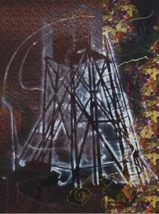 Sigmar Polke: Hochsitz, 1984 Synthetische Polymerfarben und trockenes Pigment auf Stoff, 300 x 224,8 cm. The Museum of Modern Art, New York. Teilweise und versprochene Schenkung von Jo Carole und Ronald S. Lauder Foto: © The Museum of Modern Art / Paige Knight © The Estate of Sigmar Polke / VG Bild-Kunst Bonn, 2015