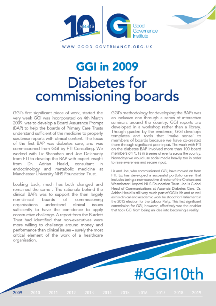 GGI in 2009 - Diabetes for commissioning boards