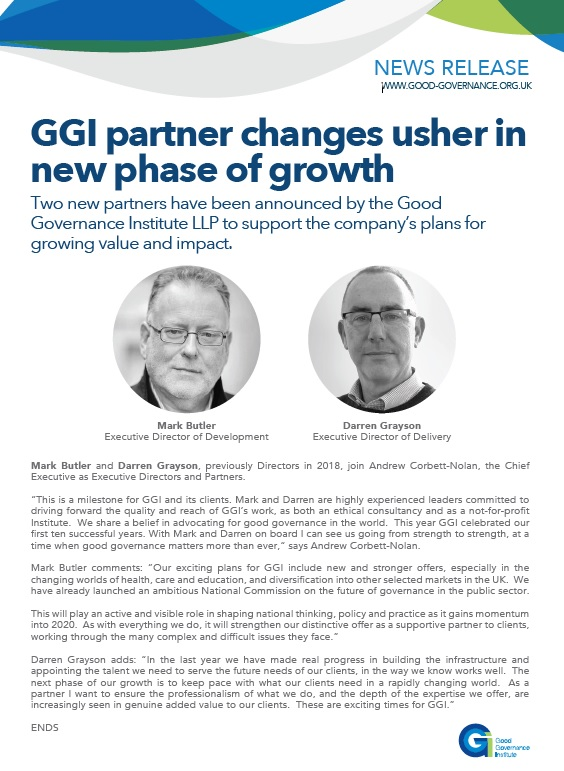 GGI partner changes usher in new phase of growth