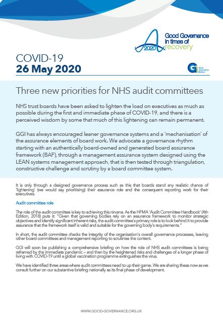 Three new priorities for NHS audit committees
