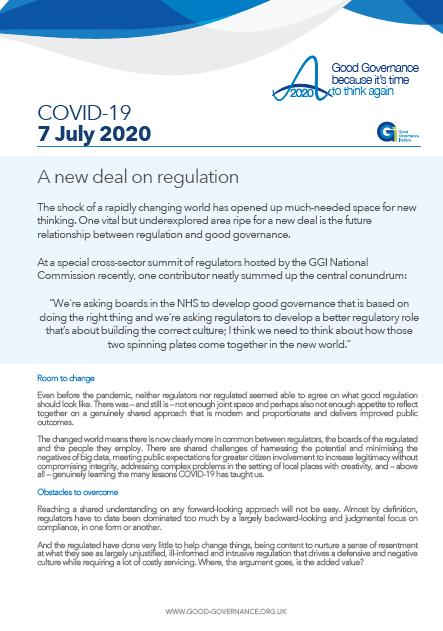 A new deal on regulation