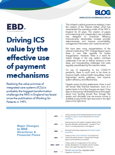 Driving ICS value by the effective use of payment mechanisms