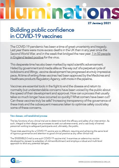Building public confidence in COVID-19 vaccines
