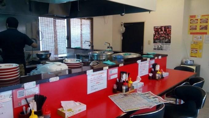 Inside shop photo of AKAHIGE ramen